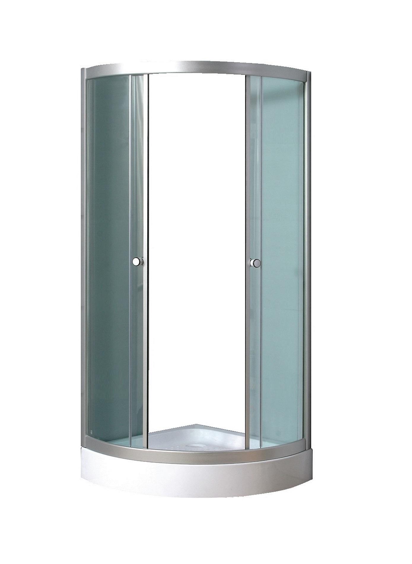 kabina prysznicowa z brodzikiem kalina 90x90 szk�o mroŻone